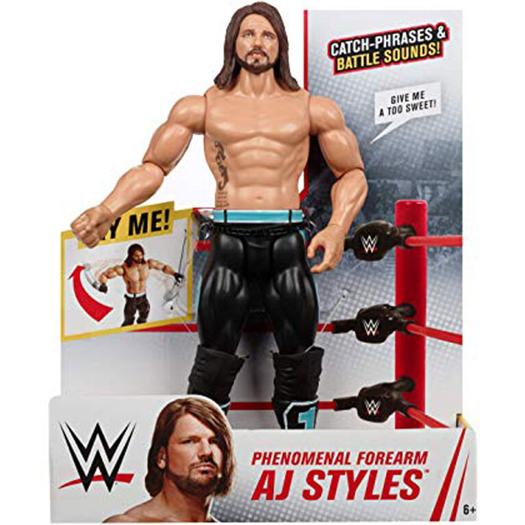 "WWE Phenomenal Forearm Aj Styles 12"" Action Figure - English Edition"