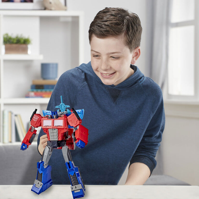 Transformers Bumblebee Cyberverse Adventures Battle Call Officer Class Optimus Prime - English Edition
