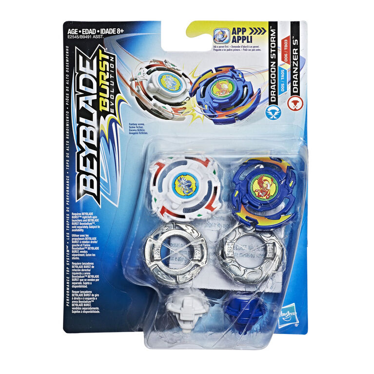 Beyblade Burst Evolution Dual Pack Dragoon Storm and Dranzer S