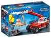 Playmobil - Pompier avec véhicule et bras téléscopique