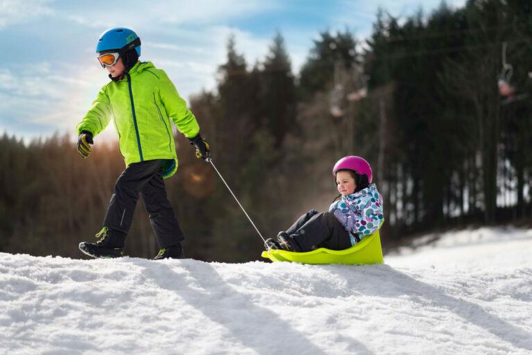 Gizmo Riders Baby Rider - Traîneau à neige pour bébés et tout-petits, contient 55 lb