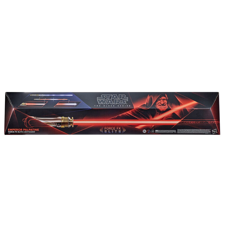 Star Wars The Black Series Emperor Palpatine Force FX Elite Lightsaber with Advanced LED and Sound Effects