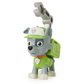 PAW Patrol, Action Pack Rocky Collectible Figure with Sounds and Phrases