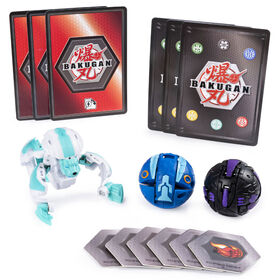 Bakugan Starter Pack 3-Pack, Haos Hydorous, Collectible Transforming Creatures
