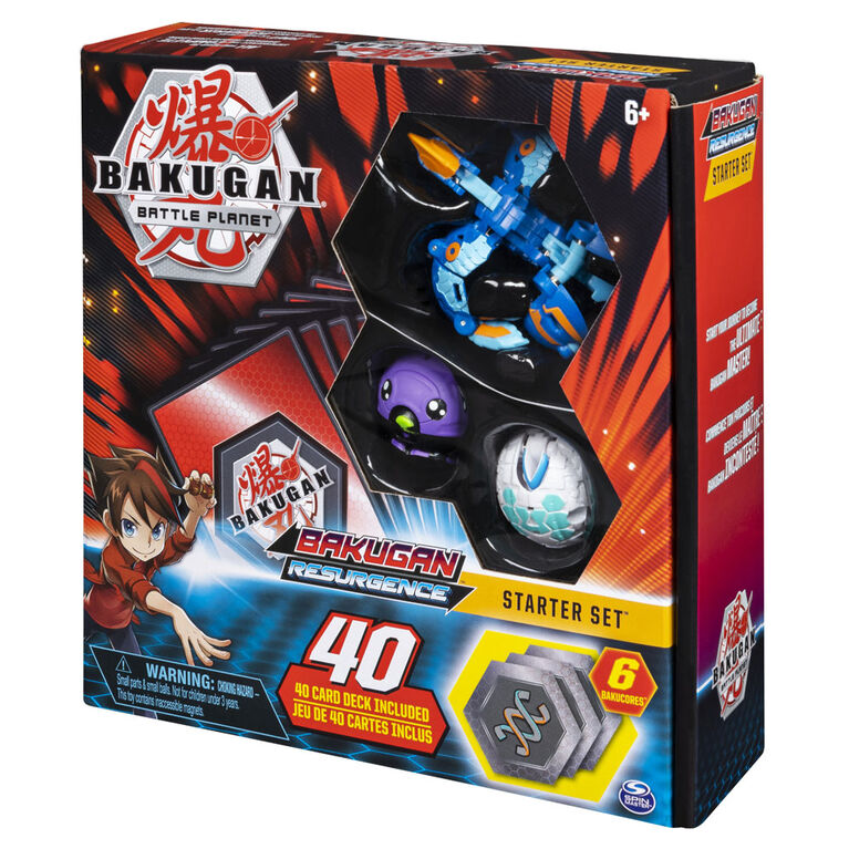 Bakugan, Starter Set Battle Brawlers avec créatures transformables Bakugan, Aquos Pyravian
