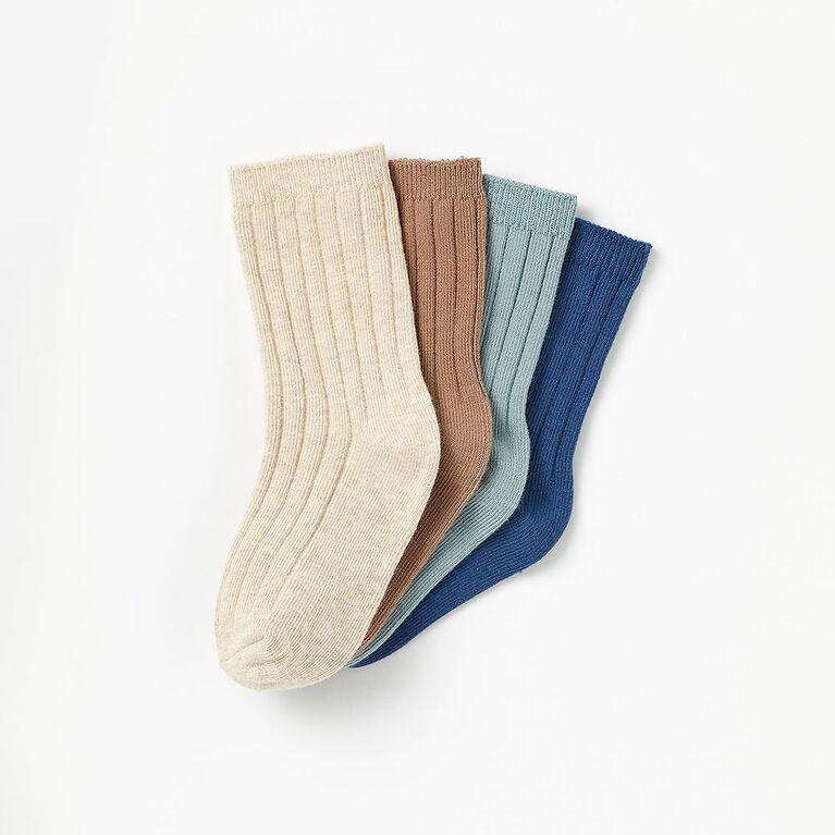 2-3 ans chaussettes mi-mollet côtelées - bleu