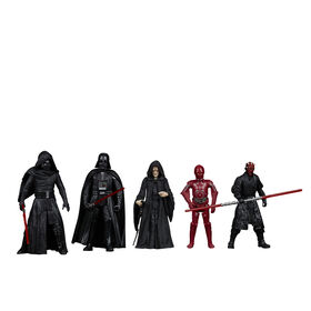 Star Wars Celebrate the Saga, Sith, figurines articulées de 9,5 cm, 5 figurines à collectionner - Notre exclusivité