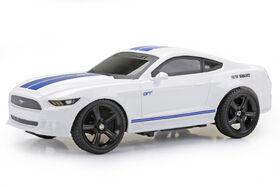 Ford Mustang, voiture de sport toutes fonctions RC 1/24 New Bright couleur blanche.