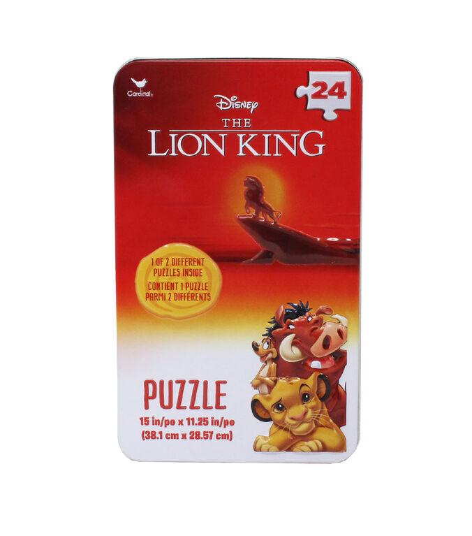 Puzzle Disney Lion King 24 pièces dans une boîte de rangement en relief