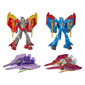 Transformers Bumblebee Cyberverse Adventures Seekers Sinister Strikeforce Pack, 4 Figures Includes Starscream - R Exclusive