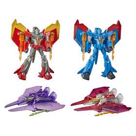 Transformers Bumblebee Cyberverse Adventures, Seekers, Force de frappe sinistre, 4 figurines dont Starscream - Notre exclusivité