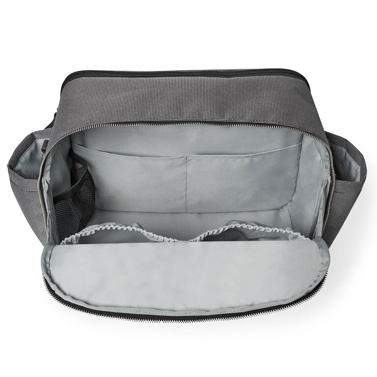 Skip Hop Madison Square Diaper Tote - Black/White Mini Grid
