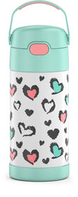 Thermos FUNtainer Bottle, Hearts Pastel, 355ml