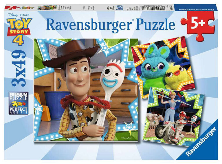Ravensburger - Toy Story 4 - In it Together Puzzle 3 x 49pc