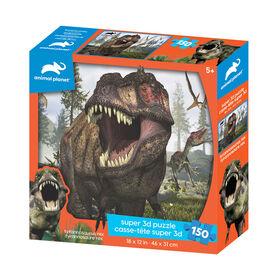 Planète Animale - Tyrannosaure - 150 pc Casse-tête Super 3D - Notre exclusivité