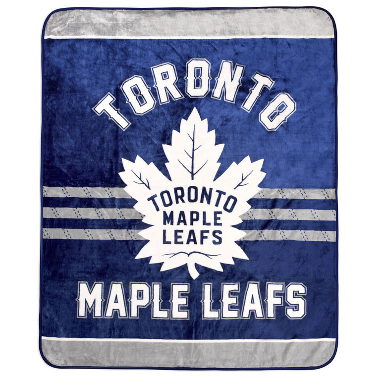 _REMOVE_OOS CLEARANCENHL Luxury Velour Blanket - Toronto Maple Leafs