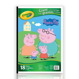 Crayola - Pages à colorier géantes, Peppa Pig