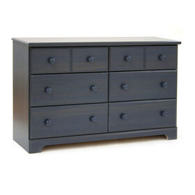 Summer Breeze 6-Drawer Double Dresser- Blueberry