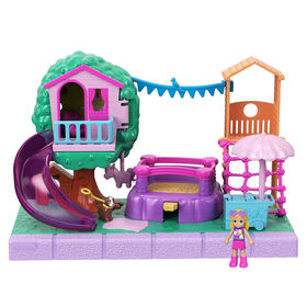 Polly Pocket Pollyville Playground Adventure Playset