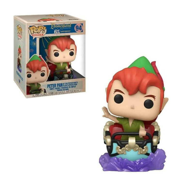 Figurine en Vinyle Peter Pan at the Peter Pan's Flight Attraction par Funko POP! Rides Disneyland 65th