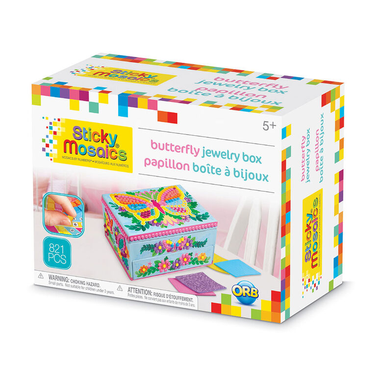 Sticky Mosaics® Butterfly Jewelry Box