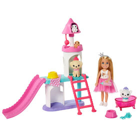 Barbie Princess Adventure Chelsea Doll and Pet Castle Playset