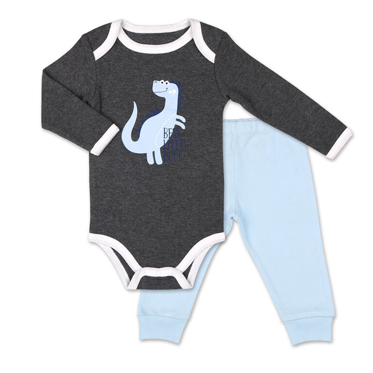 Koala Baby Dinomite Boy Long Sleeve Bodysuit and Pants Set  - 6-9 Months