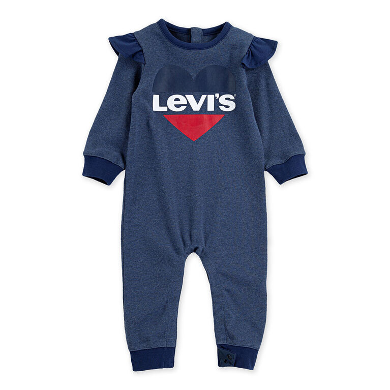 Levis Coverall - Blue, 3 Months