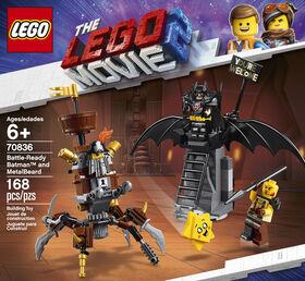 LEGO The LEGO Movie 2 Battle-Ready Batman and MetalBeard 70836