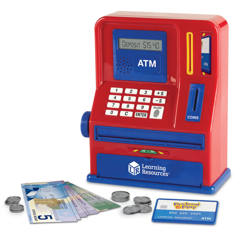 Learning Resources Pretend and Play Teaching ATM Bank - English Edition