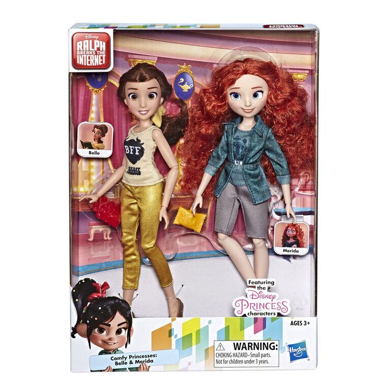 Disney Princess Ralph Breaks the Internet, Belle and Merida.