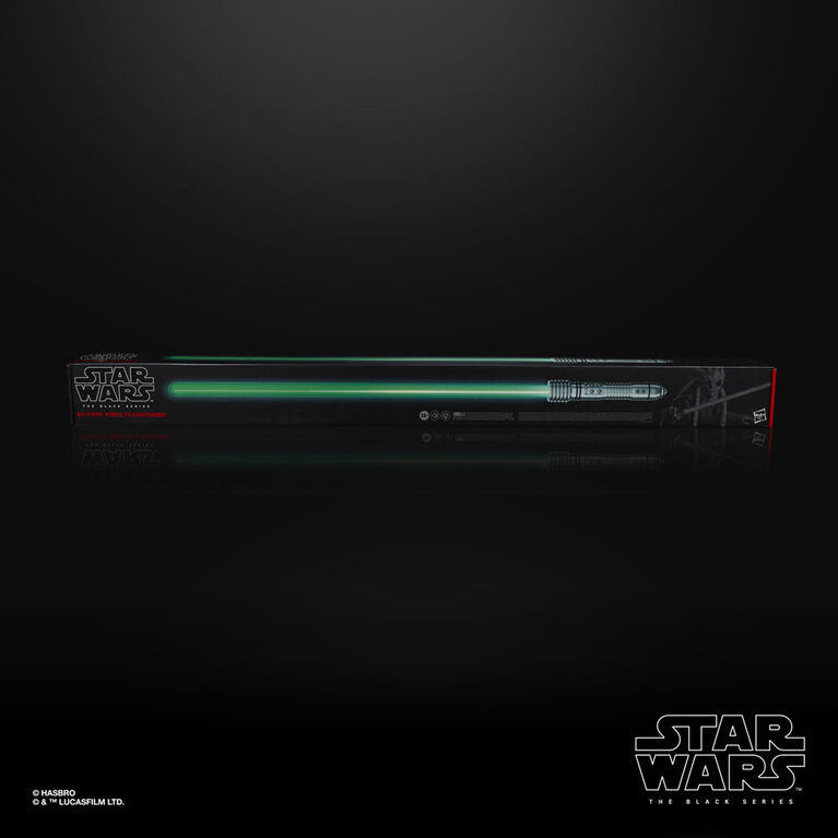 Star Wars The Black Series Kit Fisto Force FX Lightsaber with LEDs and Sound Effects, Collectible Roleplay Item with Removable Blade