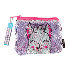 Fashion Angels - Magic Sequin Pouch with Lip Balm - Llama