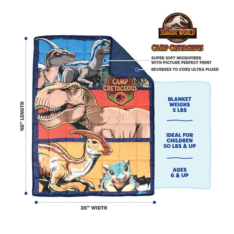 Couverture lestée pour enfants Jurassic Park (36 x 48 pouces), 5 lbs