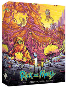 """Rick and Morty """"Into the Rickverse"""" 1000 Piece Puzzle"""