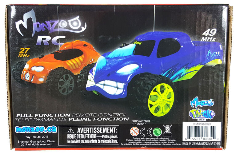 Monzoo – 1:22 Full Function R/C Monster - Series 1 - 49MHZ/ Blue