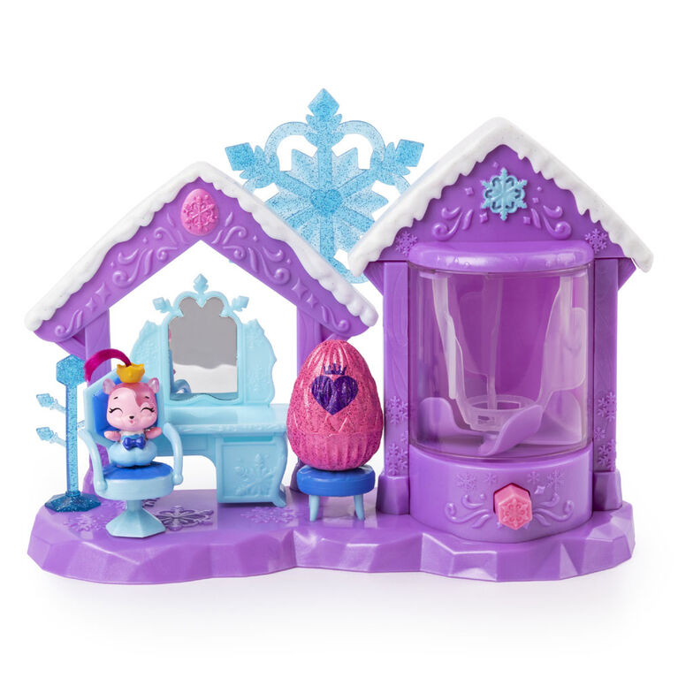 Hatchimals CollEGGtibles, Coffret Glitter Salon avec 2 Hatchimals exclusifs