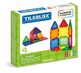 Tileblox 14Pc Rainboew Magnetic Construction Set