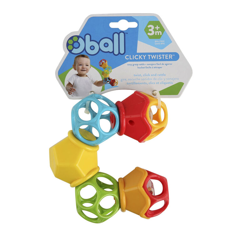 Oball Clicky Twister Easy Grasp Rattle