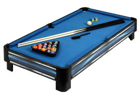 Breakout 40 Inch Tabletop Pool Table - Blue