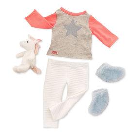 Unicorn Wishes, Our Generation, Pyjama avec licorne pour poupées de 18po