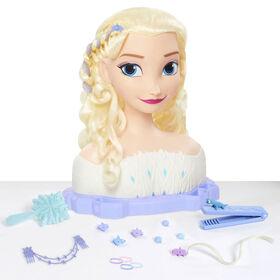 Disney'S Frozen 2 Deluxe Elsa The Snow Queen Styling Head, 17-Pieces