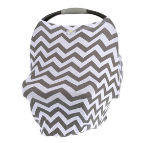 Itzy Ritzy Mom Boss 4-in-1 Multi-Use Nursing Cover, Car Seat Cover, Shopping Cart Cover and Infinity Scarf, Chevron