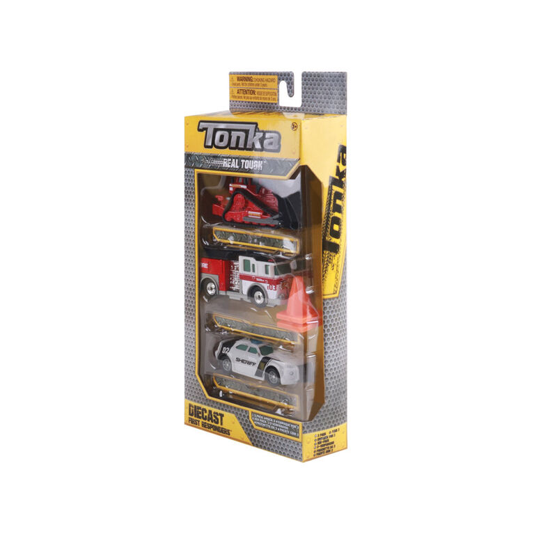 Paquet de véhicules en métal moulé Tonka