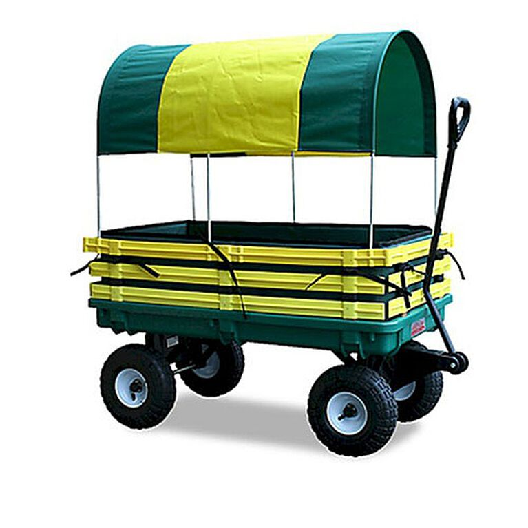 Millside - Trekker Wagon 20 inch x 38 inch with Pad and Canopy