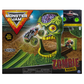 Coffret officiel Zombie Madness avec monster truck Zombie authentique en métal moulé à l'échelle 1:64.