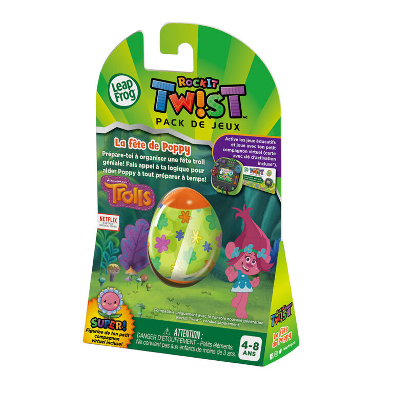 LeapFrog RockIt Twist Game Pack Trolls Party Time With Poppy - French Edition