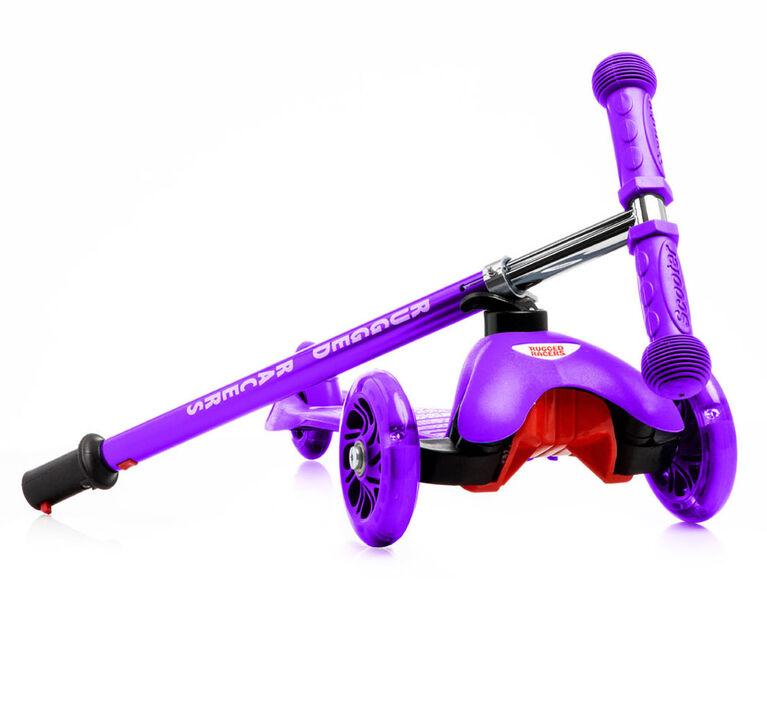 Trottinette Rugged Racer Mini Deluxe à 3 roues - Violet - Édition anglaise