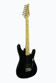 Guitare électrique Viper de Bridgecraft en érable pleine grandeur avec accessoires - Noir