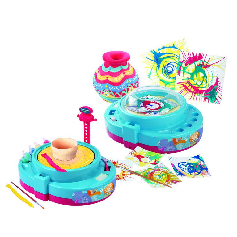 "Imaginarium Creations - Paint & Pottery Wheel ""2 In 1"" Set"